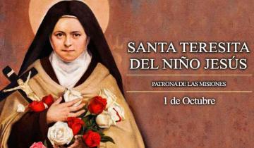 Imagen de Hoy se celebra el Día de la Virgen Santa Teresita del Niño Jesús