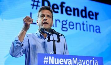 """Imagen de Guiño de Massa al kirchnerismo: """"Vamos a construir una nueva mayoría opositora para ser alternativa a este Gobierno que fracasó"""""""