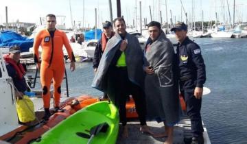 Imagen de Dramático: rescataron a kayakistas cerca del Faro de Mar del Plata