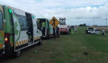 Imagen de Despiste y vuelco en la Ruta 11 deja como saldo cuatro heridos leves