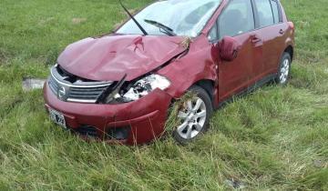 Imagen de Otro accidente en la Ruta 2: perdió el control y terminó en la banquina