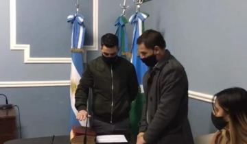 Imagen de Sebastián Echarren asumió como intendente de Castelli