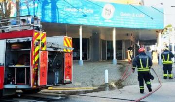 Imagen de Incendio en una heladería de Villa Gesell