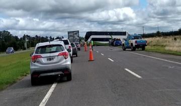 Imagen de Accidente en la Ruta 2: despistó un micro con 37 pasajeros