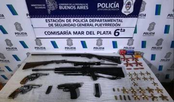 Imagen de Mar del Plata: golpeó a su hija, ella lo denunció y en su casa hallaron un arsenal