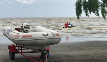 Imagen de Intensa búsqueda de un pescador perdido en el Río de La Plata