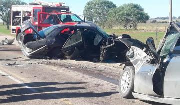 Imagen de Un hombre murió tras el choque entre tres autos en la ruta