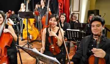 Imagen de La Orquesta Escuela de Chascomús, otra vez elegida por Ringo Starr para participar del festejo de su cumpleaños