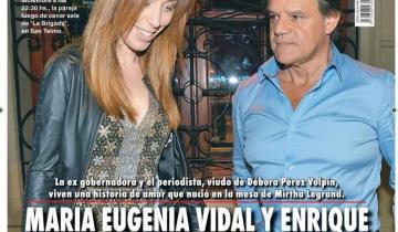 Imagen de Lo anticipamos: confirman el romance entre María Eugenia Vidal y el periodista Quique Sacco