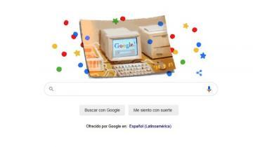 Imagen de El doodle retro con el que Google celebra su cumpleaños