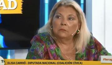 """Imagen de Para Elisa Carrió, Patricia Bullrich """"se cree Bolsonaro"""""""