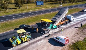 Imagen de Por obras de repavimentación, hay reducción de calzada en la Ruta 2