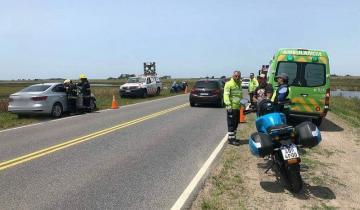 Imagen de Choque en cadena en la Ruta 11 deja como saldo una persona herida