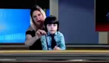 Imagen de Un nene de San Clemente imitó a Rodolfo Barili en un noticiero local y es tendencia