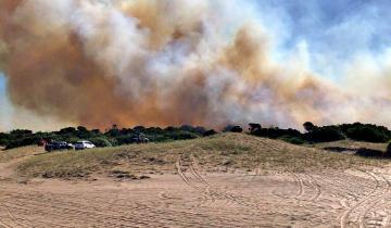 Imagen de Fue controlado el incendio en Villa Gesell