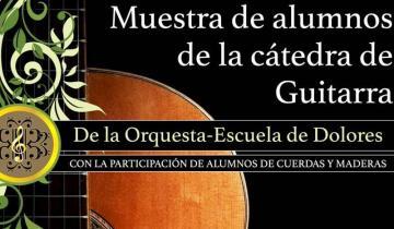 Imagen de Dolores: las guitarras de la Orquesta Escuela ofrecerán un recital en la Municipalidad