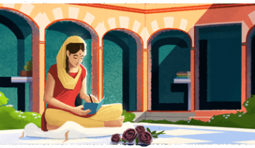 Imagen de Google recuerda a Amrita Pritam, la mejor poeta punjabi del siglo XX