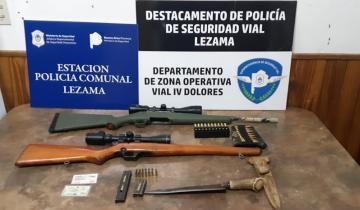 Imagen de Lezama: en un operativo vial identifican a un hombre que circulaba con un arma sin documentación