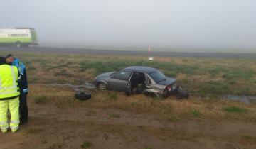 Imagen de Un herido tras un fuerte accidente en Ruta 56