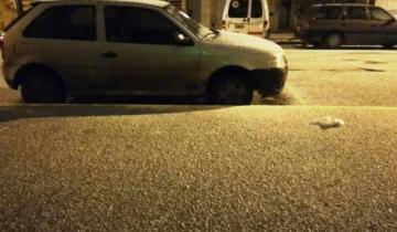 Imagen de La nieve llegó a Mar del Plata