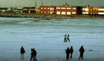 """Imagen de El Servicio Meteorológico reportó """"chaparrón de nieve"""" en Mar del Plata"""