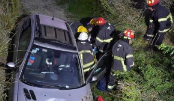 Imagen de Fuerte despiste y vuelco en la Ruta 41: un herido