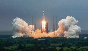 Imagen de Un cohete chino fuera de control caería en la Tierra este fin de semana