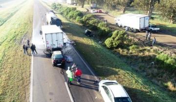 Imagen de Un accidente en cadena en la ruta 226 se cobró una vida
