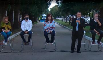 Imagen de Cristina Fernández y Axel Kicillof inauguraron un Espacio de la Memoria en Las Flores