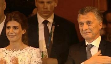 Imagen de Video: Macri se emocionó y lloró en el cierre del acto en el Teatro Colón