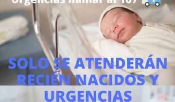 Imagen de Atención de pacientes pediátricos en General Lavalle: serán atendidos casos de urgencias y recién nacidos