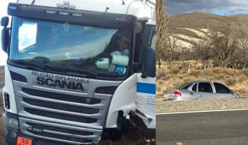 Imagen de Un muerto en un choque de frente entre un camión cisterna de YPF y un auto