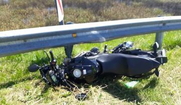 Imagen de Un motociclista cayó desde el distribuidor de Dolores