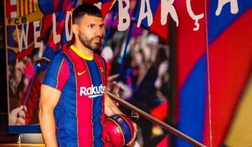 """Imagen de """"Kun"""" Agüero, tras  firmar con el Barcelona: """"Estoy en el mejor equipo del mundo"""""""