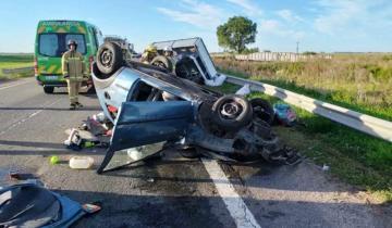 Imagen de Ruta 2: un herido de consideración a raíz de un choque y posterior vuelco en General Pirán