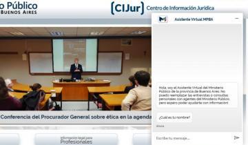 Imagen de Un asistente virtual permite saber dónde y cómo realizar una denuncia judicial en la Provincia