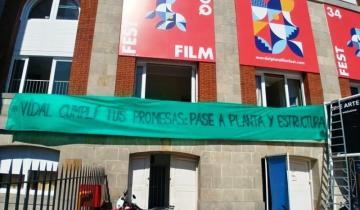 Imagen de Mar del Plata: el reclamo por una promesa incumplida de Vidal llegó al festival de cine