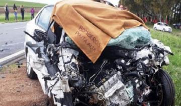 Imagen de Choque frontal en la Ruta 3: murieron un anciano de 85 años y una mujer de 69