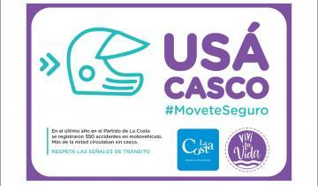 Imagen de Cristian Cardozo encara una campaña de uso del casco en La Costa