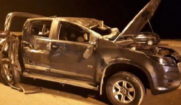 Imagen de Impactante choque entre una camioneta y un colectivo en la costa marplatense