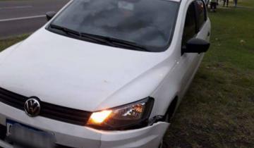 Imagen de Un auto despistó en la Ruta 2