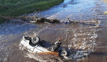 Imagen de Confirman dos muertes tras la caída de una camioneta a un arroyo en la Ruta 2