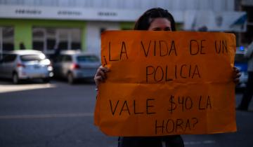 Imagen de La Policía Bonaerense continúa hoy los reclamos en varios puntos de la Provincia