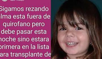 Imagen de Murió Alma, la nena de 4 años que necesitaba un corazón