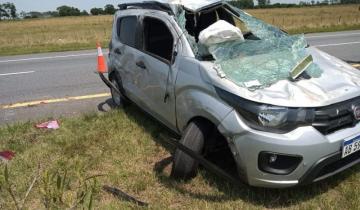 Imagen de Choque en cadena y vuelco en sendos accidentes en la Ruta 11 y la Autovía 2