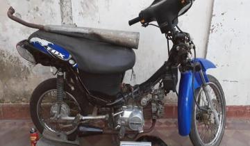 Imagen de Recuperaron en un allanamiento una moto que había sido robada en Dolores