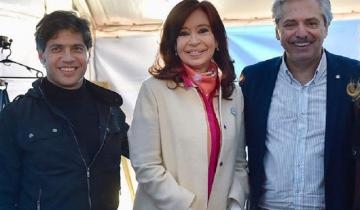 Imagen de Cristina Fernández y Axel Kicillof compartirán un acto en La Plata