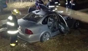 Imagen de Dos jóvenes murieron tras chocar contra un caballo en la Ruta 7