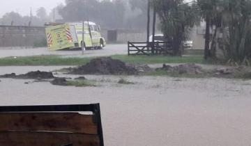 Imagen de Dolores: la intensa lluvia generó anegamiento de calles y casas inundadas