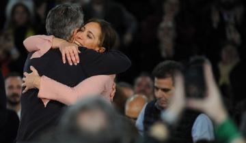 """Imagen de Macri y Vidal lloraron en el cierre de campaña: """"Les pedimos que no nos suelten la mano"""""""